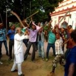 Pratap Chandra Sarangi With Bajrang Dal Activists