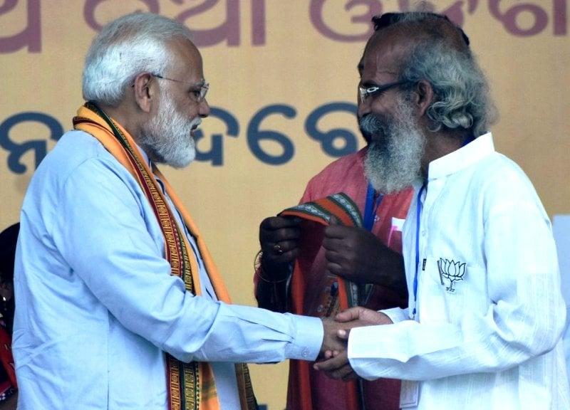 Pratap Chandra Sarangi With Narendra Modi