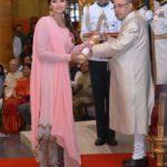 Sania Mirza Receiving Padma Bhushan