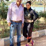 Sania Mirza With Her Father Imran Mirza