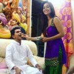 Shivani Surve with her brother