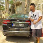 Sukhe with his Jaguar