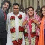 Sunaina Roshan wedding picture with Mohan Nagar