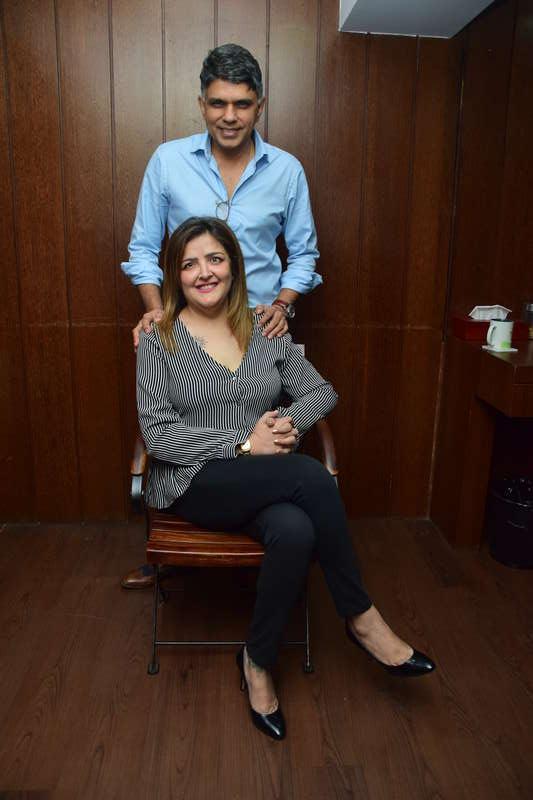 Sunaina Roshan with Dr. Muffazal Lakdawala