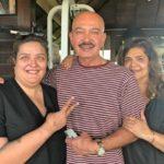 Sunaina Roshan with her parents
