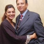 Sushmita Sen with her father, Shubir Sen