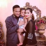 Umme Ahmed Shishir with her husband and her daughter