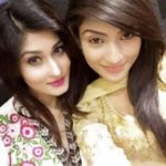 Umme Ahmed Shishir with her sister