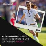 Alex Morgan CONCACAF Player Of The Year