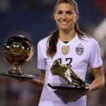 Alex Morgan With SheBelieves Cup Golden Boot and Golden Ball in 2016