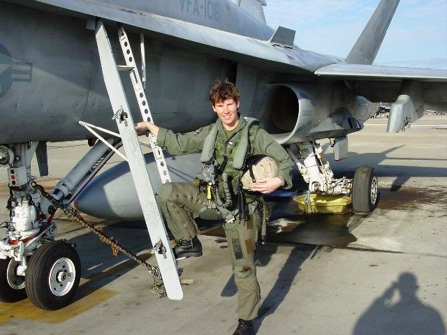 Amy McGrath with Fighter Squadron