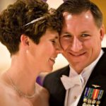 Amy McGrath with her husband