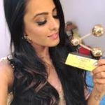 Anita Hassanandani with an award