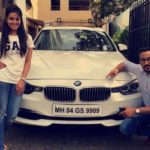 Anita Hassanandani with her car