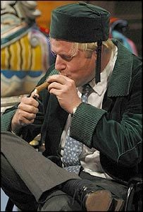 Boris Johnson while smoking