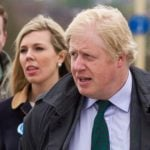 Boris Johnson with Carrie Symonds