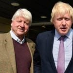 Boris Johnson with his father