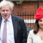 Boris Johnson with his second wife
