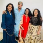 Faisal Khan with his sisters