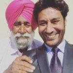 Harbhajan Mann with his father