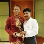 Hima Das With Arjuna Award