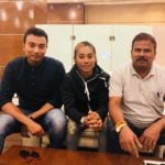 Hima Das With Her Coaches Nippon Das and Nabjit Malakar
