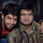 Hitesh Bharadwaj with his brother Rahul Bharadwaj