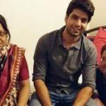 Hitesh Bharadwaj with his parents