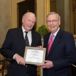 McConnell receiving Tax fighter award