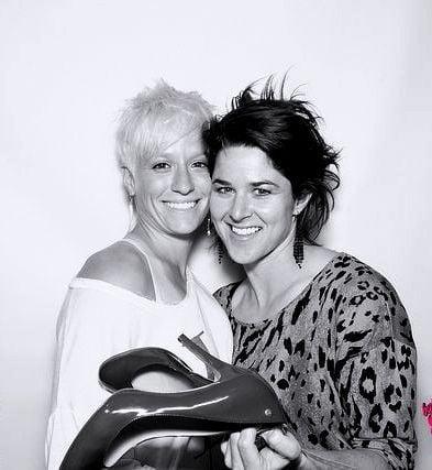 Megan Rapinoe with Sarah Walsh