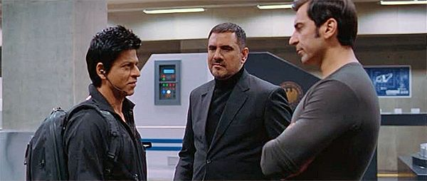 Nawab Shah (right) in Don 2