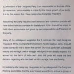Rahul Gandhi Resignation Letter As Congress Chief