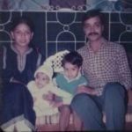 Rohit Reddy with his family in childhood