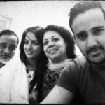Rohit Reddy with his parents and wife