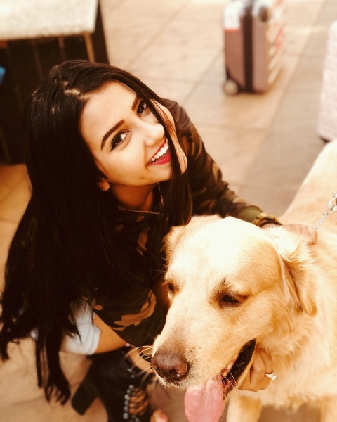 Roshni Walia loves dogs
