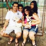 Roshni Walia with her parents and sister