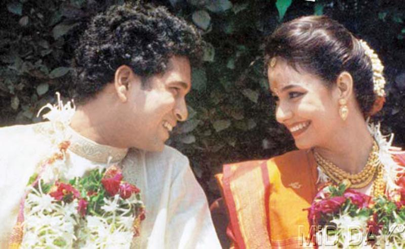 Sachin Tendulkar Wedding Day Photo