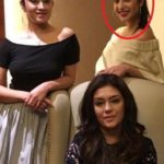 Saher Bamba (encircled) with her mother and sister