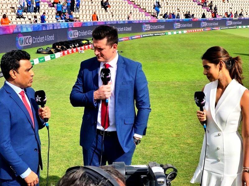 Sanjana Ganesan Hosting During The Cricket World Cup 2019