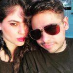 Sherin Shringar with her boyfriend