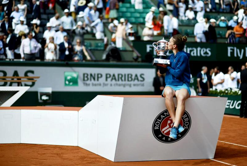 Simona Halep With Her French Open Trophy