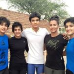 The Phogat Sisters with their brother Dushyant Phogat