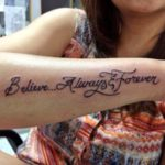 Urvashi Dholakia's tattoo on forearm
