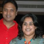 Vanitha Vijaykumar with her husband Anand Rajan