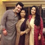 Varun Sharma with his mother and sister