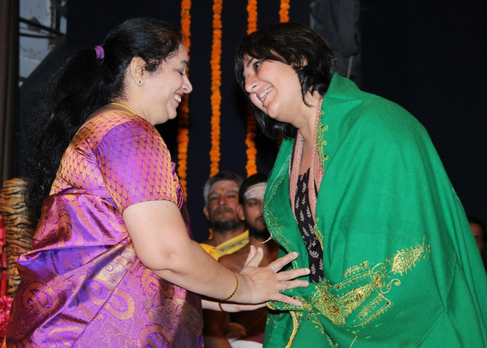 Bansuri Swaraj being honoured at a function