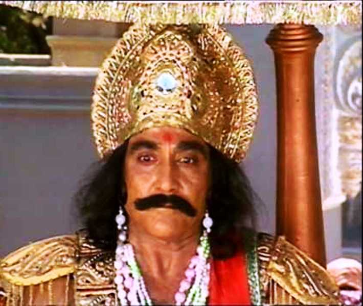 Goga Kapoor as Kansa in Mahabharta