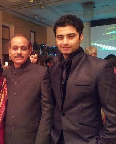 Harshad Arora with his father