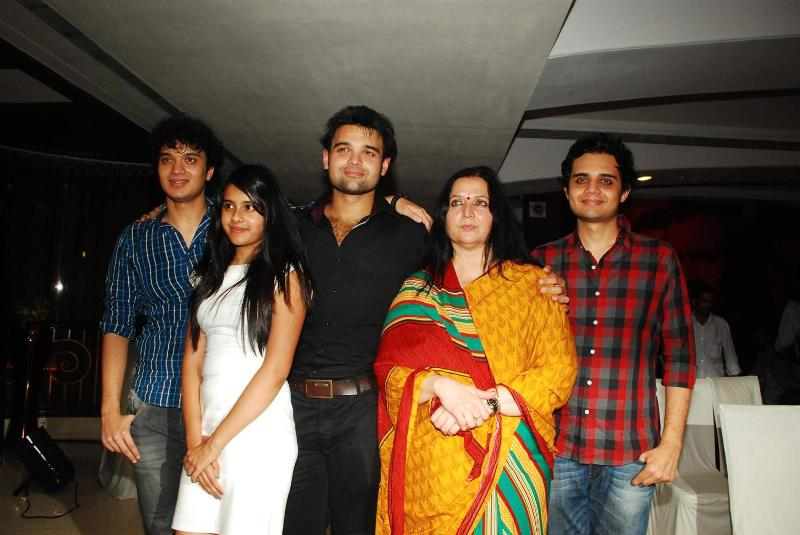 Namashi Chakraborty with his mother and siblings
