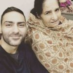 Navi Bhangu with his mother